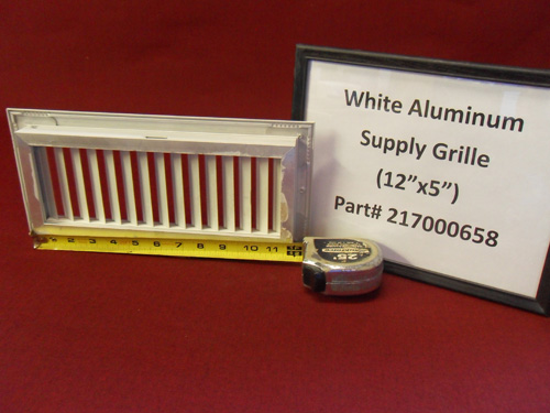 "White Aluminum (12"" X 5"") Supply Grille 217000658"