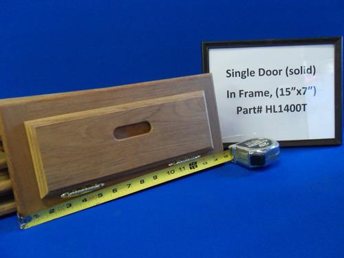 H & L Marine, Teak Single Door HL1400T