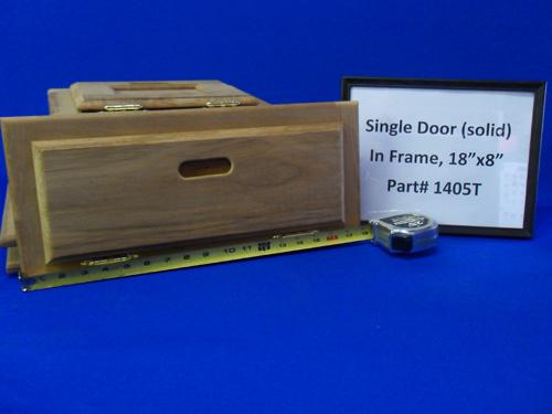 H & L Marine, Teak Single Door HL1405T