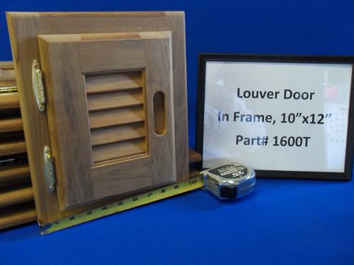 H & L Marine, Teak Louver Door HL1600T