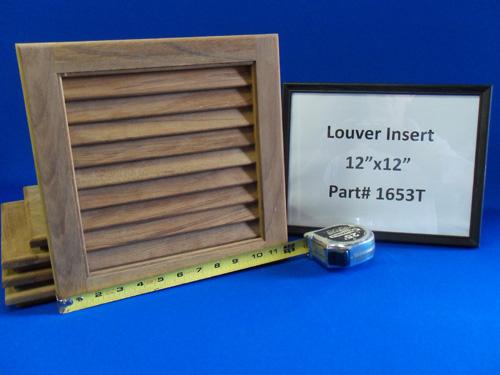 H & L Marine, Teak Louver Door Insert HL1653T