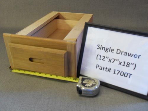 H & L Teak Single Drawer Unit HL1700T