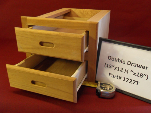 H & L Marine Teak Double Drawer Unit HL1727T