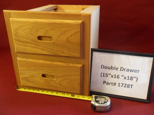 H & L Marine Teak Double Drawer Unit HL1728T