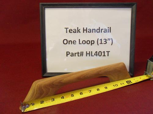 """H & L Woodwork 13"""" One Loop Teak Handrail HL401T"""