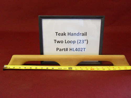 "H & L Woodwork 23"" Two Loops Teak Handrail HL402T"