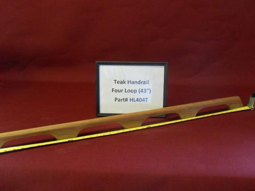 H & L Woodwork Teak Handrail