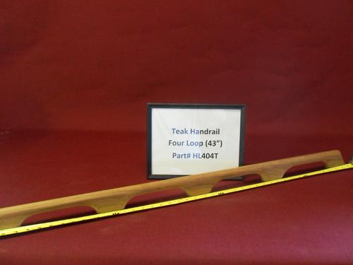 "H & L Woodwork 43"" Four Loops Teak Handrail HL404T"