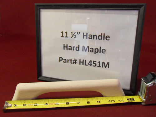 "H & L Woodwork 11-1/2"" One Loop Hard Maple Handrail HL451M"