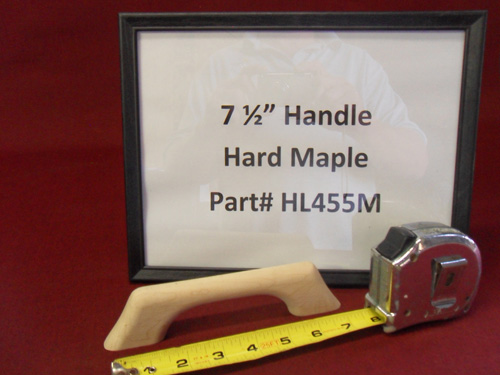 "H & L Woodwork 7-1/2"" One Loop Hard Maple Handrail HL455M"