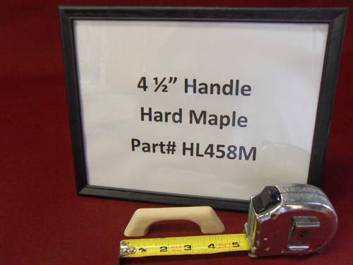 "H & L Woodwork 4-1/2"" One Loop Hard Maple Handrail HL458M"