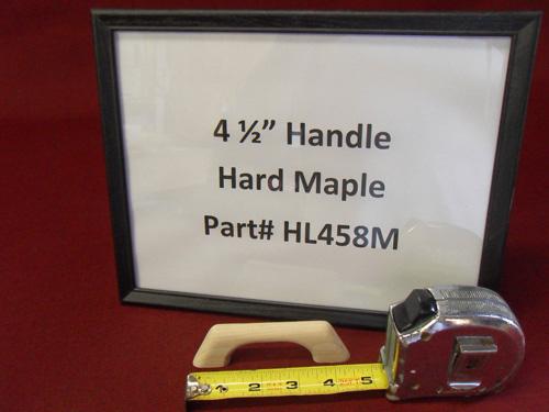 "H & L Woodwork 4-1/2"" One Loop Hard Maple Handrail HL458M"