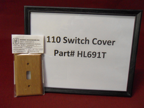 H & L Marine, Teak 110V Switch Cover HL691T