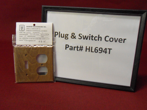 H & L Marine, Teak Plug and Switch Cover HL694T