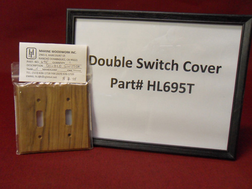 H & L Marine, Teak Double Switch Cover HL695T
