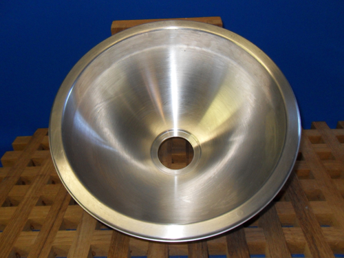 "Round Brushed Finish Basin, Scandvik, 11 5/8""/ 5"" #SVK10201"