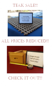 Sailors Exchange Teak Sale!!!