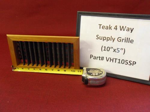 """Teak (10""""x5"""") 4 Way Supply Grille VHT105SP"""