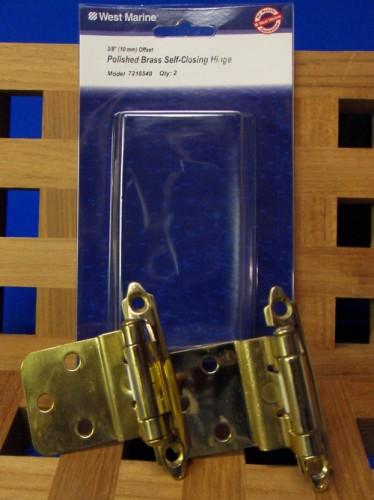 Polished Brass Self-Closing Hinge