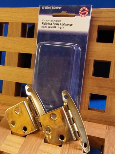 West Marine Polished Brass Flat Hinge