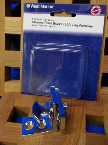 West Marine Chrome Plate Brass Table Leg Fastener