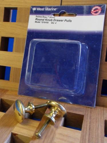 West Marine Round Knob Drawer Pulls