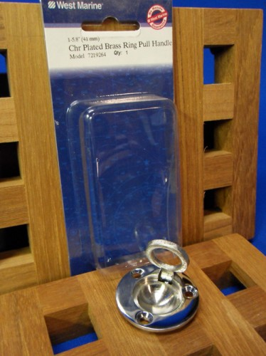 West Marine Chrome Plated Brass Ring Pull Handle